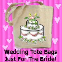 Personalized Bride Wedding Tote Bags!