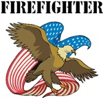 USA Firefighter T-Shirts and Patriotic Eagle Gifts