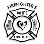Firefighters Wife Deco Heart T-shirts & Gifts!