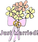 Bride Just Married Wedding Bouquet
