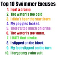 Swimming Excuses  t-shirts and gifts