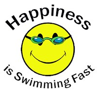 Happiness is Swimming Fast t-shirts & gifts