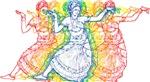 Rainbow Bharatanatyam Dancers