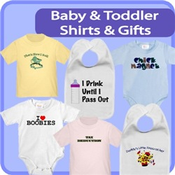 Baby And Toddler Shirts, Bibs, And Creepers