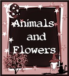 ANIMAL AND FLOWERS T-SHIRTS AND GIFTS