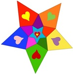 Rainbow Hearts Star