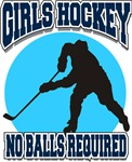 Girl's Hockey No Balls Required T-Shirts