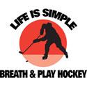 Play Hockey Jesery T-Shirt Gifts