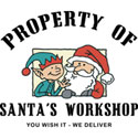 Property of Santa's Workshop T-Shirt & Gif
