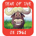 Year of The Ox T-Shirt 1961 Ox T-Shirrts