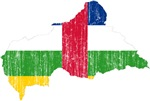 Central African Republic Flag And Map
