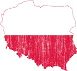 Poland Flag And Map