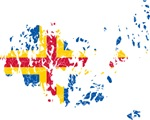 Aland Flag And Map