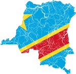 Democratic Republic Of The Congo Flag And Map