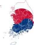 South Korea Flag And Map