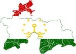 Tajikistan Flag And Map
