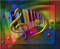 COLORS OF MUSIC TILE MURALS