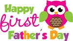 Girl Owl Happy 1st Fathers Day