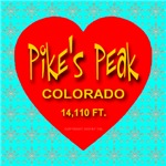 Pike's Peak Colorado Snowflake Heart