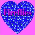 Fireflies Midnight Blue Heart