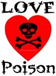 Love Poison Classic Skull Heart