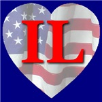 Love IL Flag Heart