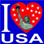 I Love USA Statue of Liberty Heart First Editi