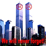 Sad Face Twin Towers We Will Never Forget