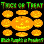 Trick or Treat Which Pumpkin Is President?