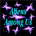 Aliens Among Us Cyan