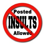Posted No Insults Allowed