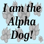 I Am The Alpha Dog! Blue for Studs