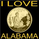 I Love Alabama State Coin
