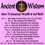 Ancient Wisdom: how to generate wealth & get rich