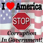 I Love America STOP Corruption In Government