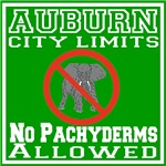 Auburn City Limits No Pachyderms Allowed