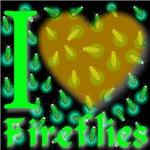 I Love Fireflies Golden Heart
