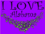 I Love Alabama Purple Passion