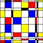 Mondrian art style