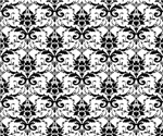 Damask pattern black