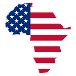 Africa Map American Flag