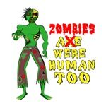 Zombies were human