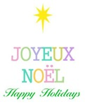Joyeux Noel Merry Christmas Happy Holidays Season'