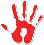 Hand Print Red Large