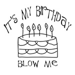 It's my birthday, blow me! Attitude saying for men