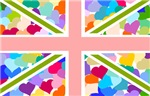 Heart filled Union Jack Flag