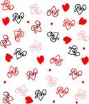 Love Heart Typography Pattern