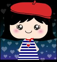 Cute French Girl Cartoon
