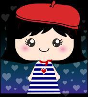 Cute French Girl Cartoon