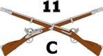11C Crossed Rifles